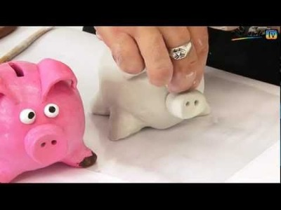 Art Lesson: How to make a Piggy Bank using Air Hardening Clay