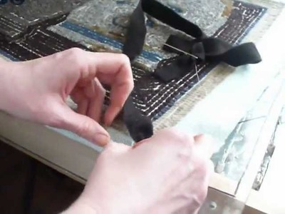 Binding a Rug With 1 Inch Wool Strips