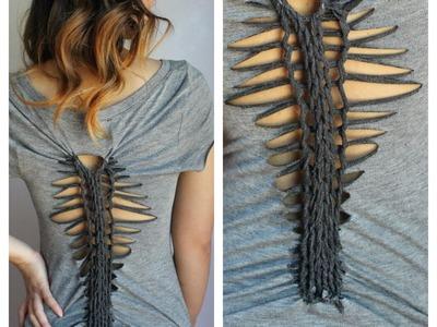 D.I.Y T-Shirt Reconstruction: Cut Up Back (1 Weave Pattern)