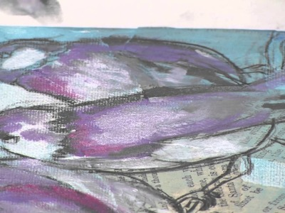 Dina Wakley Art Journal Freedom Birds Demonstration