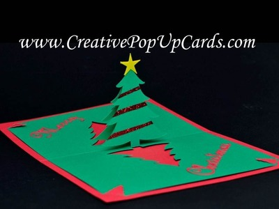Easy Christmas Tree Pop Up Card