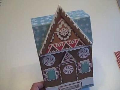 "Gingerbread House Mini Album Recipe ""Box"""