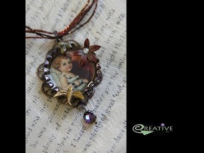 How to Create a Bird Inspired Vintage Pendant by Linda Peterson