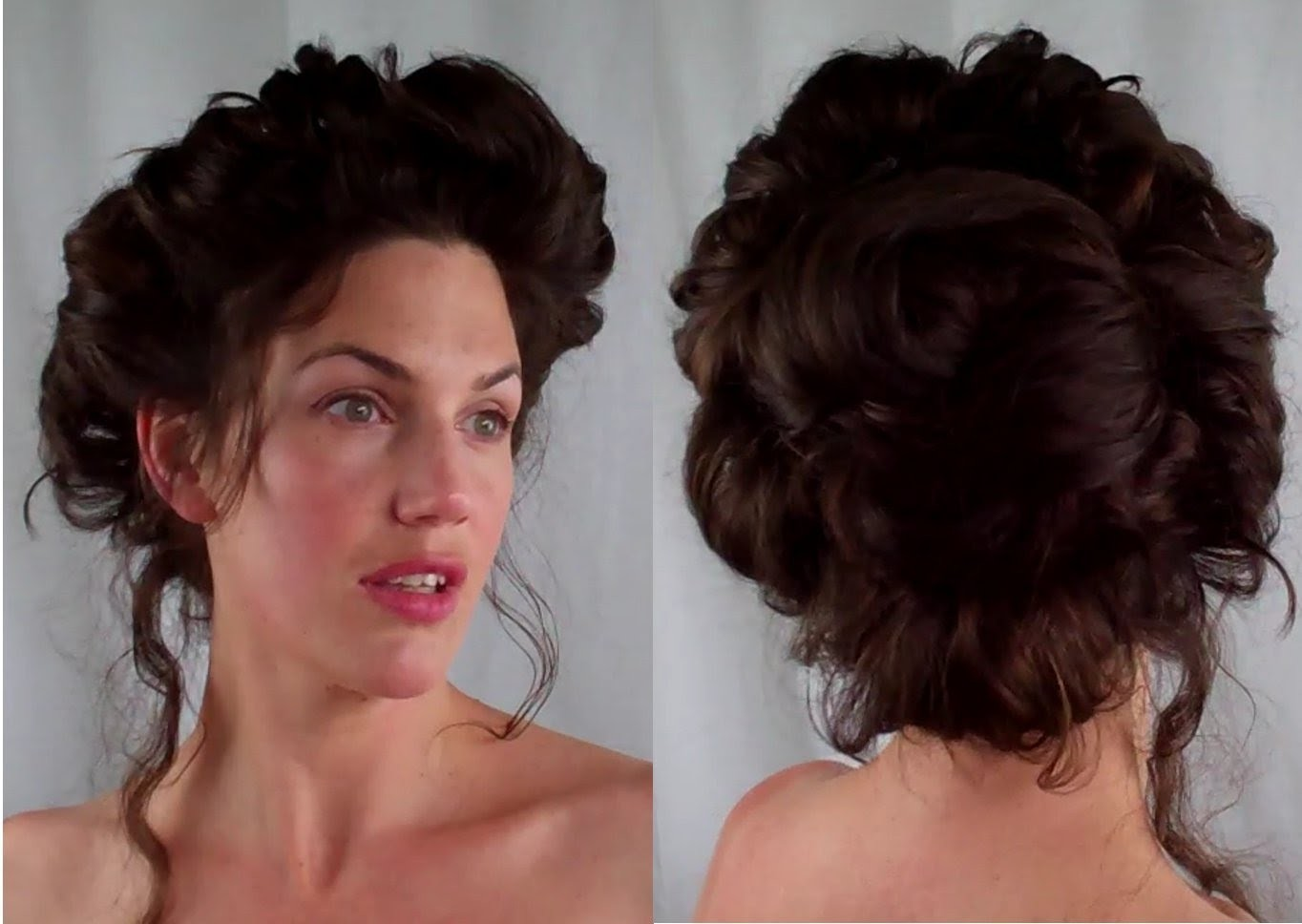 How to  GIBSON girl Hair  EDWARDIAN. VICTORIAN vintage RETRO Hairstyle tutorial - Vintagious