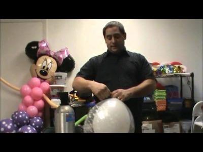 How to make a balloon Winter wonderland centerpiece