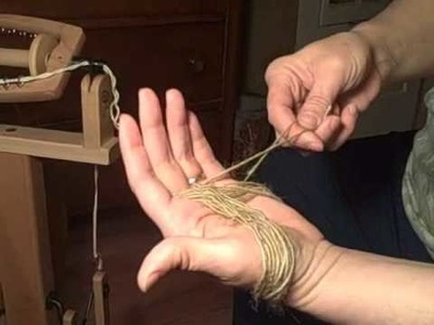 Making an Andean Bracelet and Andean Plying On A Wheel