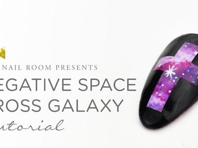 Negative Space Cross Galaxy - (www.NEIRU.me) Japanese Gel Nail Art Tutorial [HD]