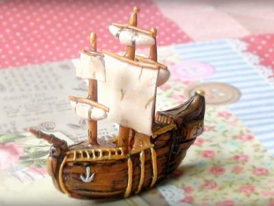 Polymer Clay Mini Ship Tutorial