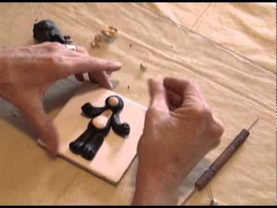 Polymer Clay Tutorial - How to make a Black Bear