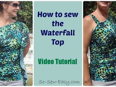 Sew a one shoulder flouncy top, free pattern