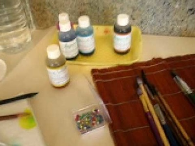 Silk painting - use less, and be more colourful