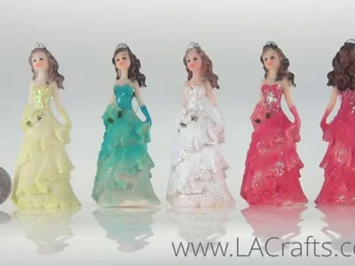 "3.5"" Small Poly Resin Quinceanera Doll From LACrafts.com"