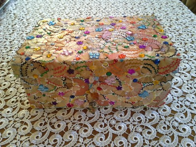 Box with Pencil Scraps-Altered Shoe Boxes Series Tutorial No 3