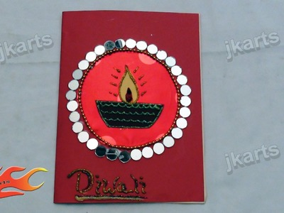 DIY Diwali greeting card - JK Arts 160