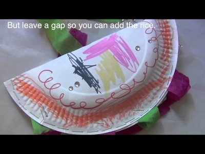 How to make a paper plate shaker