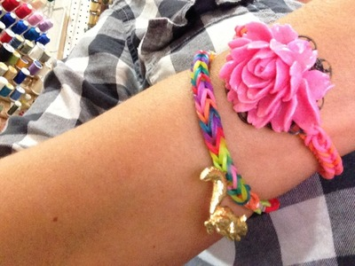 How to Make a Rainbow Loom Bracelet with CHARMS! by Pretty Prudent