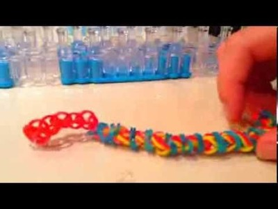 How to make a Topsy Turvey on the rainbow loom|Laura DD|