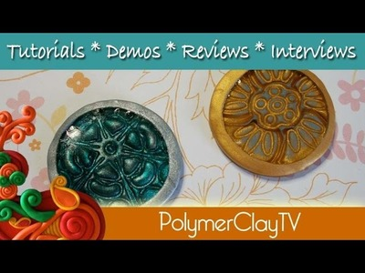 How to make your own polymer clay bezels with textured bottoms
