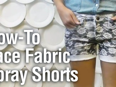 How-to Spray Paint Shorts