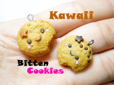 Kawaii Bitten Cookie 。◕ ‿ ◕。 Biscottino Kawaii con il Morso (Polymer Clay Tutorial)