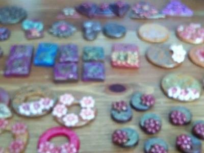 ~My polymer clay jewelry pendants~