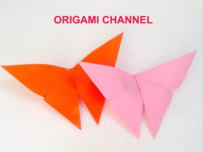 ORIGAMI BUTTERFLY EASY PAPER ORIGAMI FOR BEGINNERS