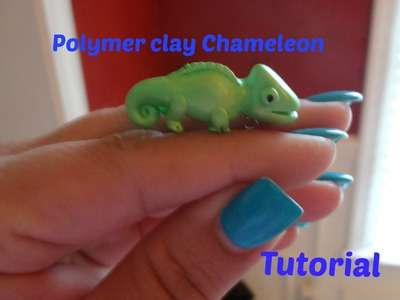 Polymer Clay Chameleon charm  tutorial