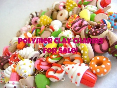 Polymer Clay Charms For Sale! (For Charity)