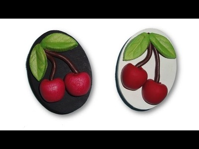 Polymer Clay Cherry Fridge Magnets