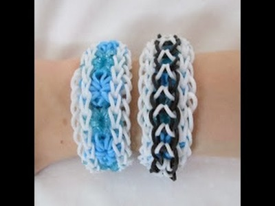 Rainbow Loom- How to Make a Dragonburst Bracelet (Reversible Starburst and Dragonscale)