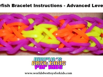Rainbow Loom Rubber Band Refill - Starfish Bracelet Instructions