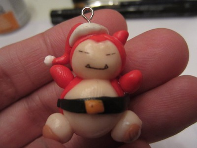 Christmas Snorlax Polymer Clay creation