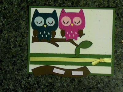 Cricut 'always on my mind' owl card  creat a critter cartridge