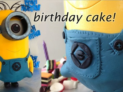 Despicable Me 2 3D Minion Cake HOW TO Cook That Ann Reardon (Minion Movie)