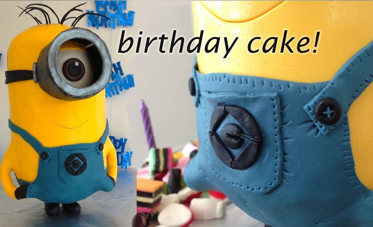 Despicable Me 2 3D Minion Cake HOW TO Cook That Ann Reardon (Minion Movie)