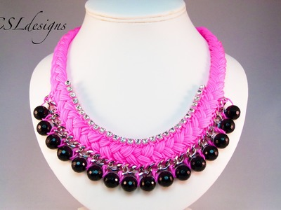 Fashion statement collar necklace