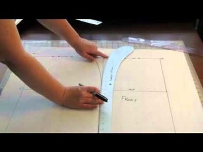 Grandma's Sewing Cabinet Skirt Pattern Drafting Tutorial 3: Part 2 Drafting the Pattern