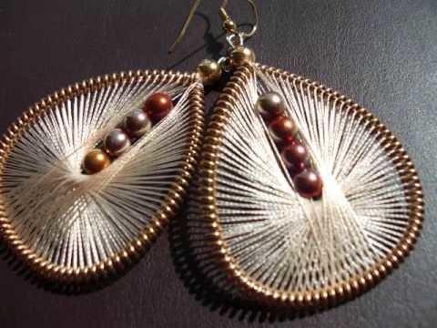 Handmade Thread Earrings by Funky Lobez www.funkylobez.etsy.com