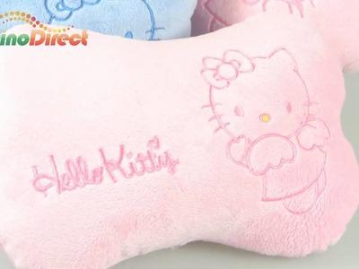 Hello Kitty Pattern Car Head Rest Cushion Pillow 2 Pcs - dinodirect