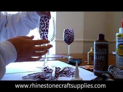 How to Decoupage a Wine Glass