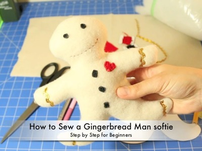 How to Make a Gingerbread Man Softie