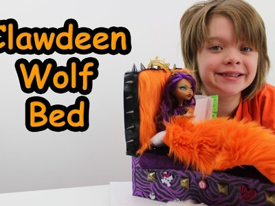 How to make a Monster High Clawdeen Wolf bed tutorial - Day 584 | ActOutGames