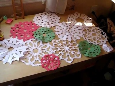 How to make a paper snowflake