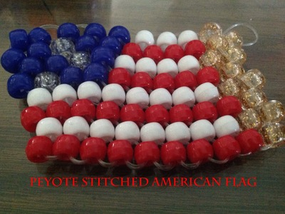 How To Make a Peyote Stitched American Flag