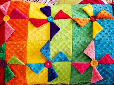 How to make a Pinwheel Quilt Block Pillowcase (Sewing Tutorial)