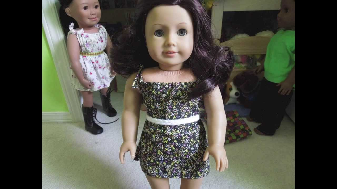 How to make an american girl doll dress