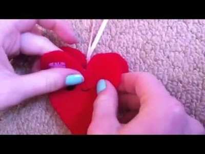 How to sew a cute heart plush