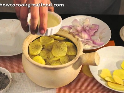 Lancashire Hotpot recipe British English food how to cook great Lamb Kidneys Potatoes Onions