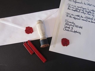 Make a medieval wax seal