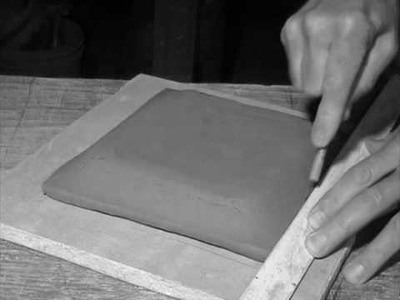 Make a textured square clay slab plate: two versions